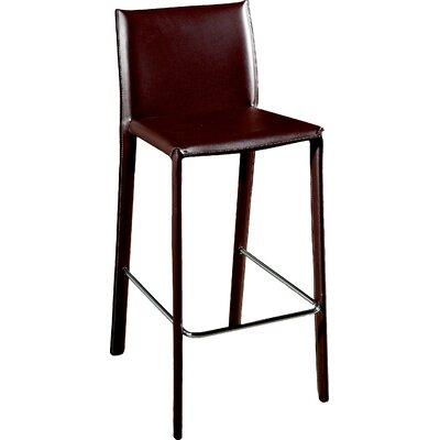 Baxton Studio Ferdinand 25.5 Bar Stool Upholstery: Brown