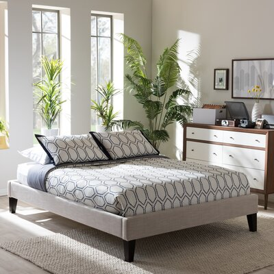 Biagio Upholstered Platform Bed Size: Queen, Color: Beige