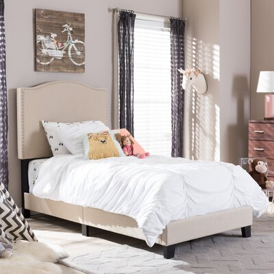 Baxton Studio Twin Upholstered Panel Bed