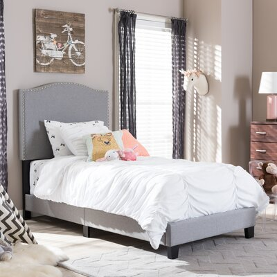 Baxton Studio Twin Upholstered Platform Bed