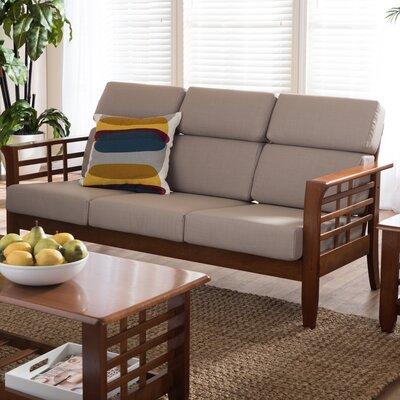 Baxton Studio Armanno 3 Seater Living Room Sofa