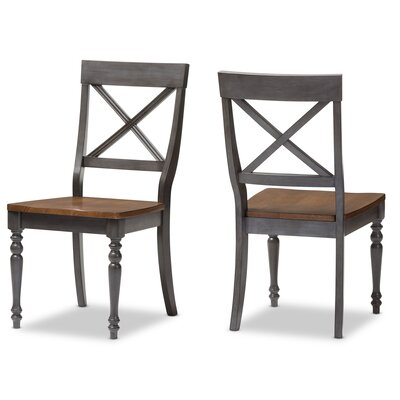 Baxton Studio Pia Solid Wood Dining Chair