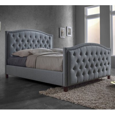 Baxton Studio Queen Upholstered Platform Bed Headboard Color: Gray