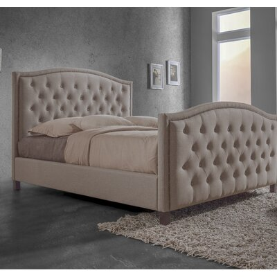 Dascomb Queen Upholstered Platform Bed Headboard Color: Brown