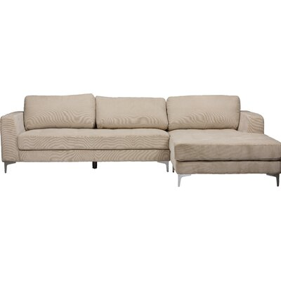 Baxton Studio Sectional Upholstery: Light Beige