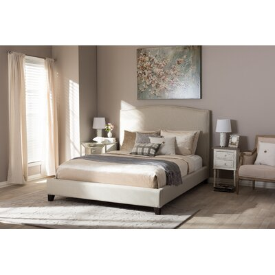 Aisling Upholstered Platform Bed Size: King, Color: Beige