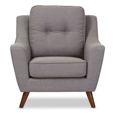 Baxton Studio Mercede Upholstered Armchair Color: Light Gray