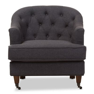 Marta Baxton Studio Barrel Chair Upholstery: Dark Gray