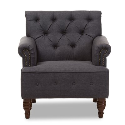 Maria Armchair Color: Dark Gray
