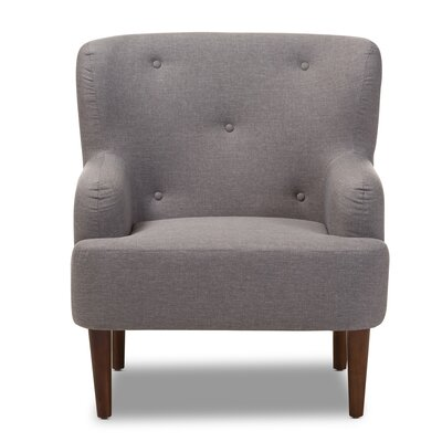 Aria Armchair Upholstery: Light Gray