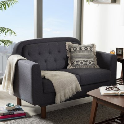 Liliana Loveseat Upholstery Color: Dark Grey