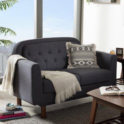 Liliana Loveseat Upholstery Color: Dark Grey