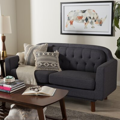 Liliana Loveseat Upholstery: Dark Gray