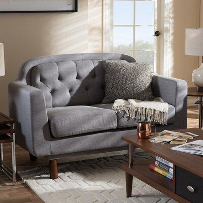 Liliana Loveseat Upholstery Color: Light Grey