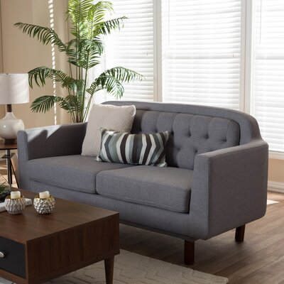 Liliana Loveseat Upholstery Color: Light Gray