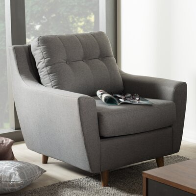 Alcee Armchair Upholstery Color: Gray