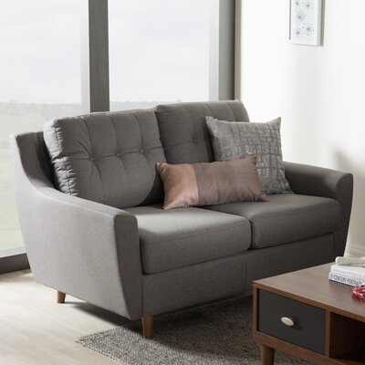 Alcee Loveseat Upholstery: Gray