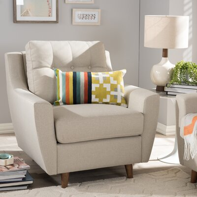 Alcee Armchair Upholstery: Light Beige