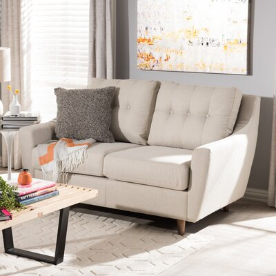 Alcee Loveseat Upholstery: Light Beige