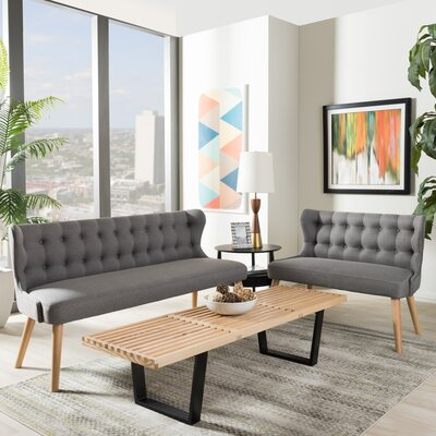 Alessia Sofa and Loveseat Set