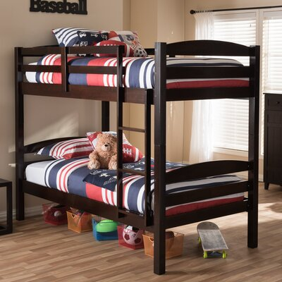 Baxton Studio Twin over Twin Bed