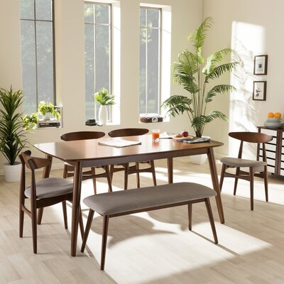 Baxton Studio 6 Piece Dining Set
