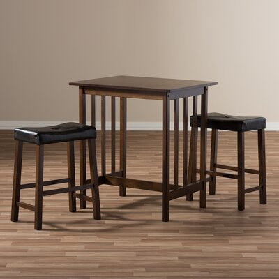 Baxton Studio Loft 3 Piece Pub Table Set