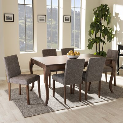 Baxton Studio 7 Piece Dining Set