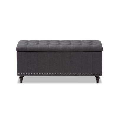 Baxton Studio Luca Upholstered Storage Bedroom Bench Upholstery Color: Dark Gray
