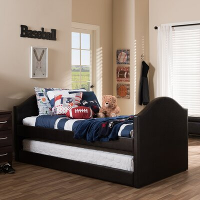 Baxton Studio Twin Bed with Trundle Finish: Dark Brown