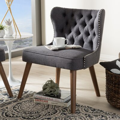 Baxton Studio Side Chair Color: Dark Gray