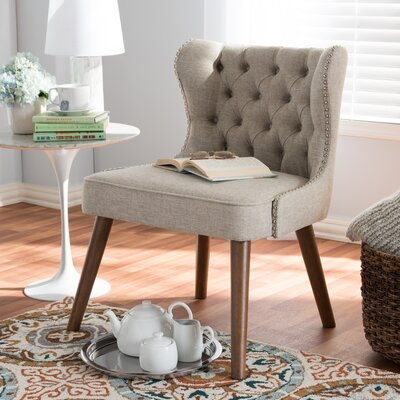 Baxton Studio Side Chair Color: Light Beige