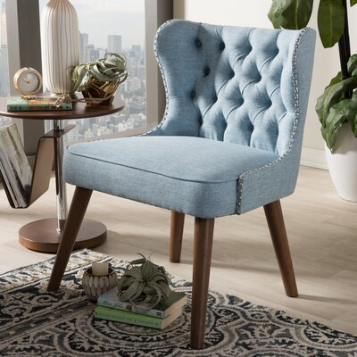 Baxton Studio Side Chair Color: Light Blue