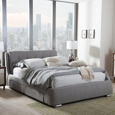 Baxton Studio Platform Bed Size: Queen