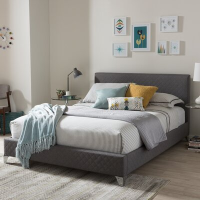 Spicer Upholstered Platform Bed Size: Queen