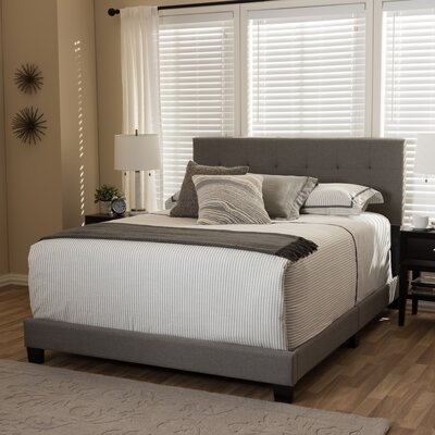 Baxton Studio Upholstered Panel Bed Size: Queen