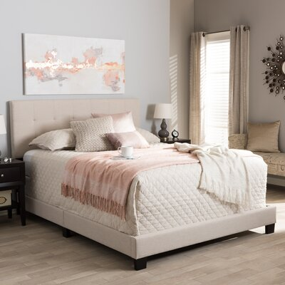 Gianna Upholstered Panel Bed Size: King