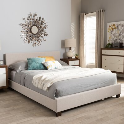 Rico Upholstered Platform Bed Size: Queen