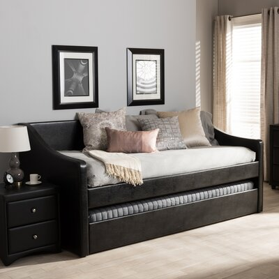Baxton Studio Silvana Daybed with Trundle Finish: Black