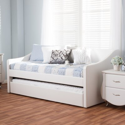 Baxton Studio Silvana Daybed with Trundle Finish: White