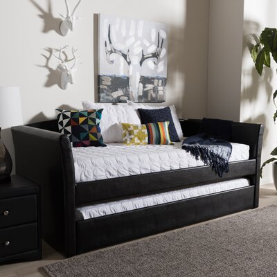 Serena Daybed with Trundle Finish: Black