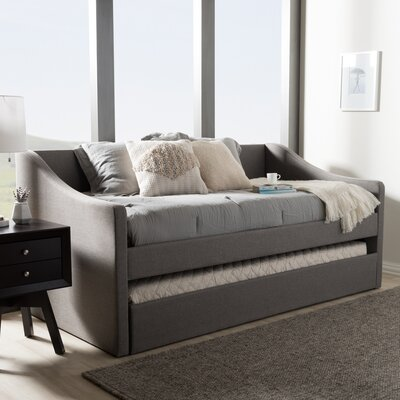 Baxton Studio Silvana Daybed with Trundle Finish: Gray