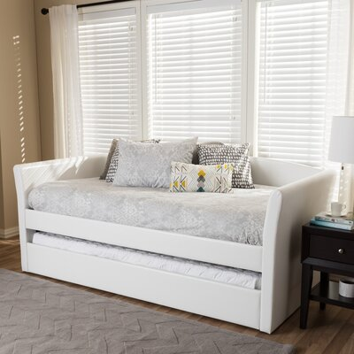 Serena Daybed with Trundle Finish: White