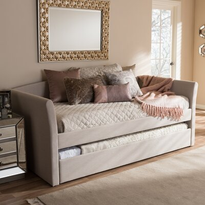 Baxton Studio Serena Daybed with Trundle Finish: Beige
