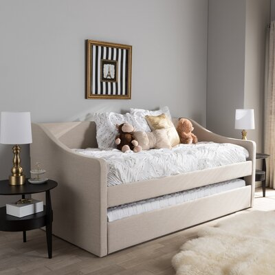 Baxton Studio Silvana Daybed with Trundle Finish: Beige
