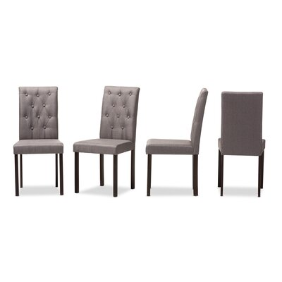 Baxton Studio Andrew Side Chair Upholstery: Gray