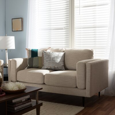 Adam Retro Mid-Century Loveseat Finish: Beige