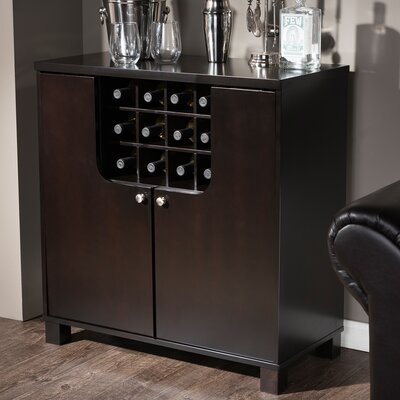 Baxton Studio Bar with Wine Storage