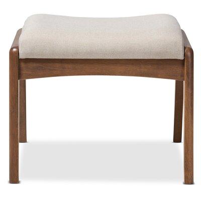 Rio Upholstered Ottoman Fabric: Light Beige