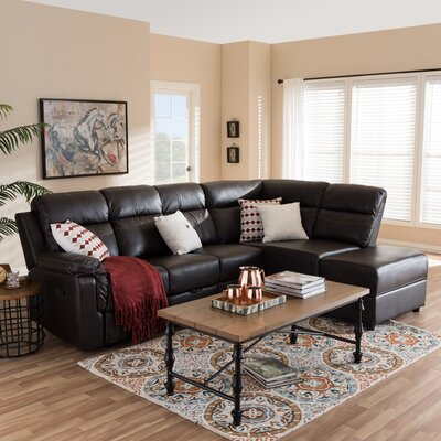 Baxton Studio Reclining Sectional